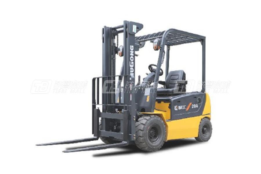 柳工CLG2020A-S四支点单驱2.0T电动平衡重式叉车