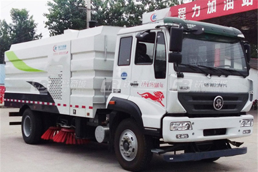 程力专汽CLW5160TSLZ5重汽16吨扫路车 程力威牌扫路车