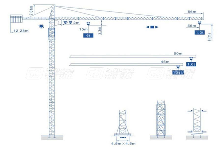 强力建机Q5513(6t)尖头塔式起重机