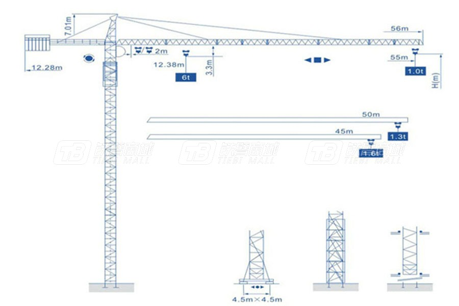 强力建机Q5510(6t)尖头塔式起重机