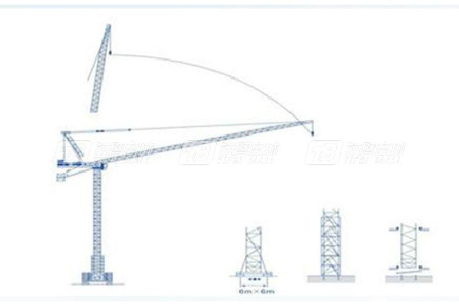 强力建机QD300平头塔式起重机