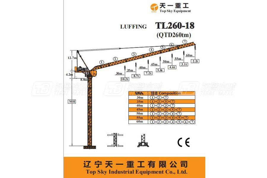 天一重工TL260-18塔式起重机