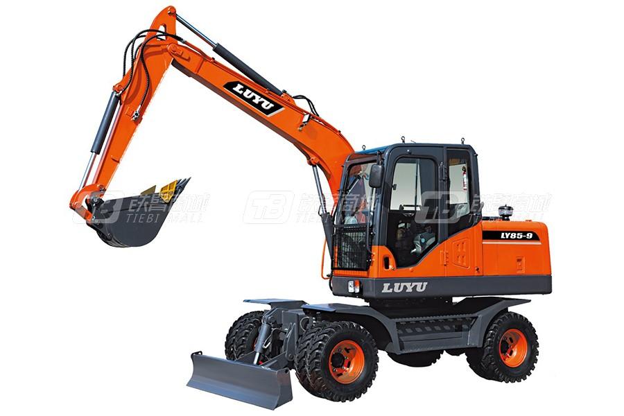 鲁宇LY85-9轮式挖掘机