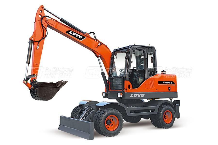 鲁宇LY85轮式挖掘机