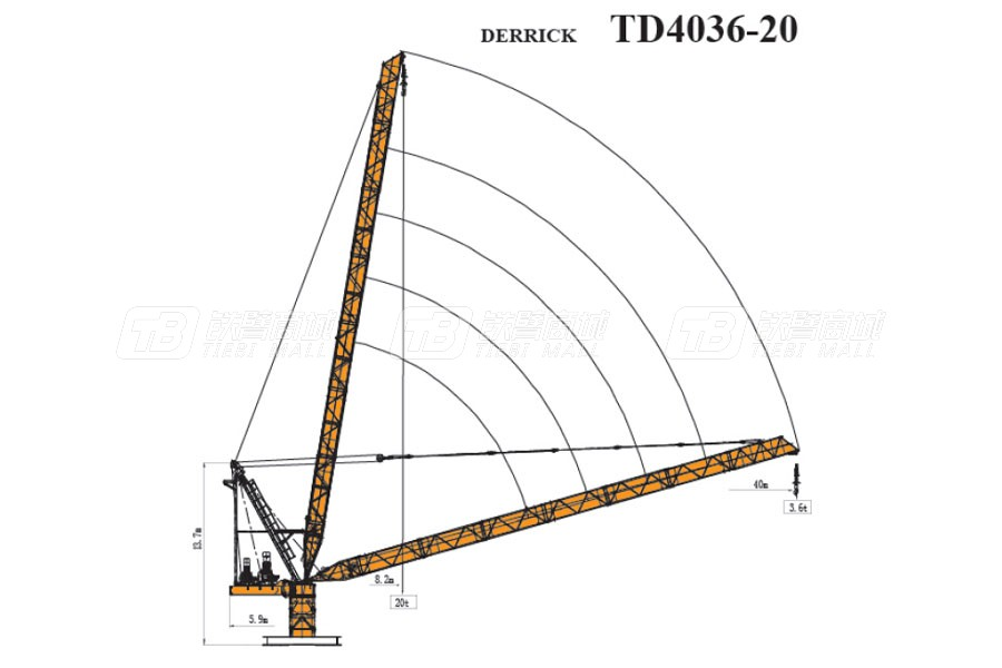 天一重工TD4036-20塔式起重机
