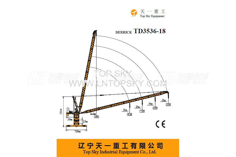 天一重工TD3536-18塔式起重机