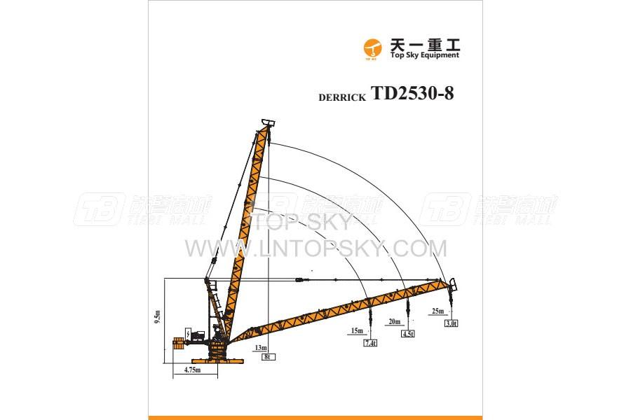 天一重工TD2530-8T塔式起重机