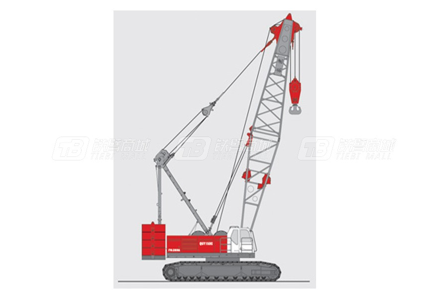 抚挖重工QUY150A液压履带式起重机