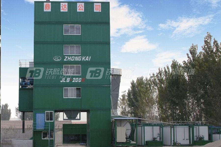 中凯路机JLB-200K沥青混合料搅拌设备集装箱式