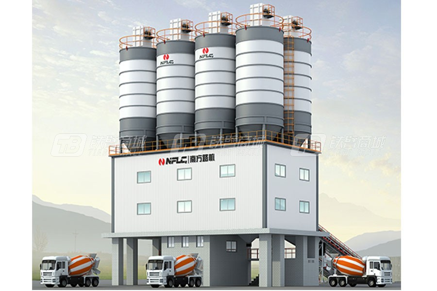 南方路机HZS200粉罐置顶型商品混凝土搅拌站