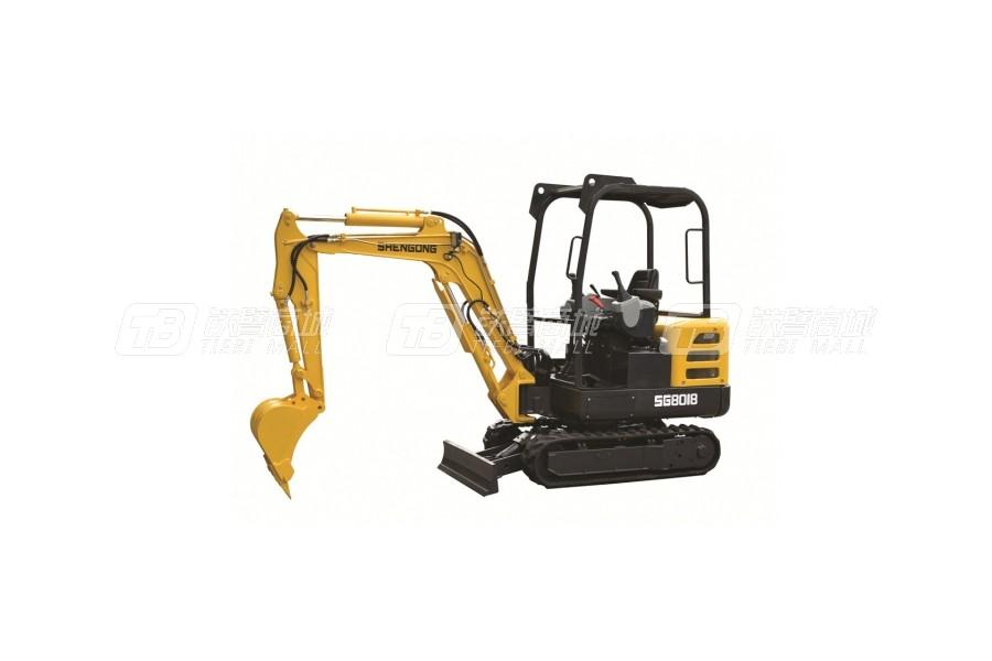 神工SG8018小型挖掘机
