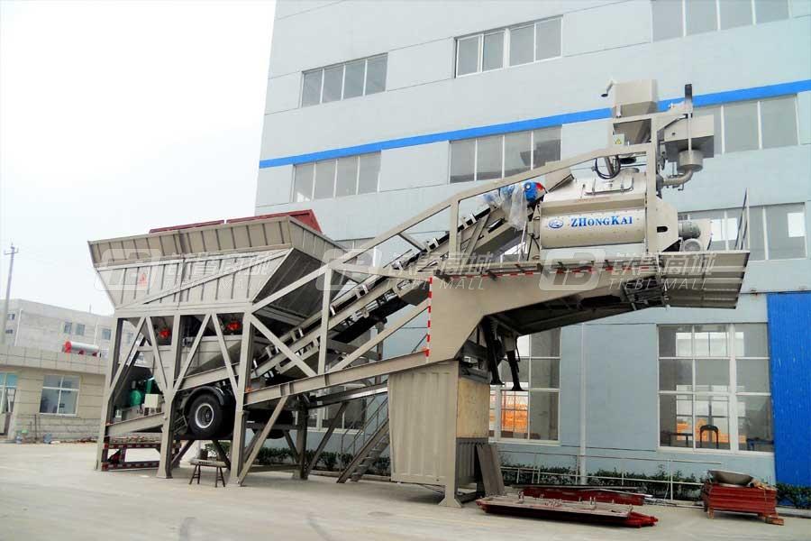 中凯路机YHZS-100移动式水泥混凝土搅拌设备