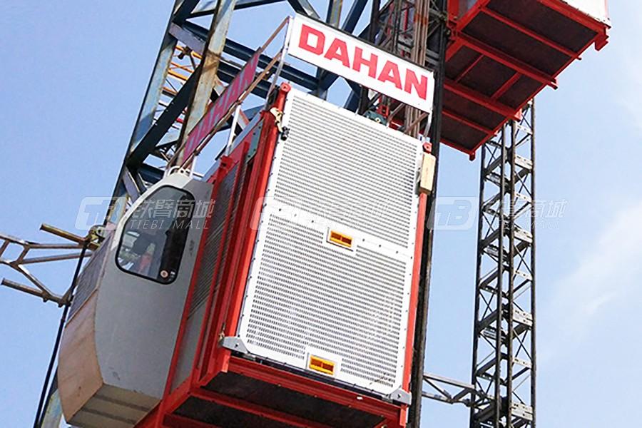 大汉建机SC200/200蜗轮蜗杆传动式三传动升降机