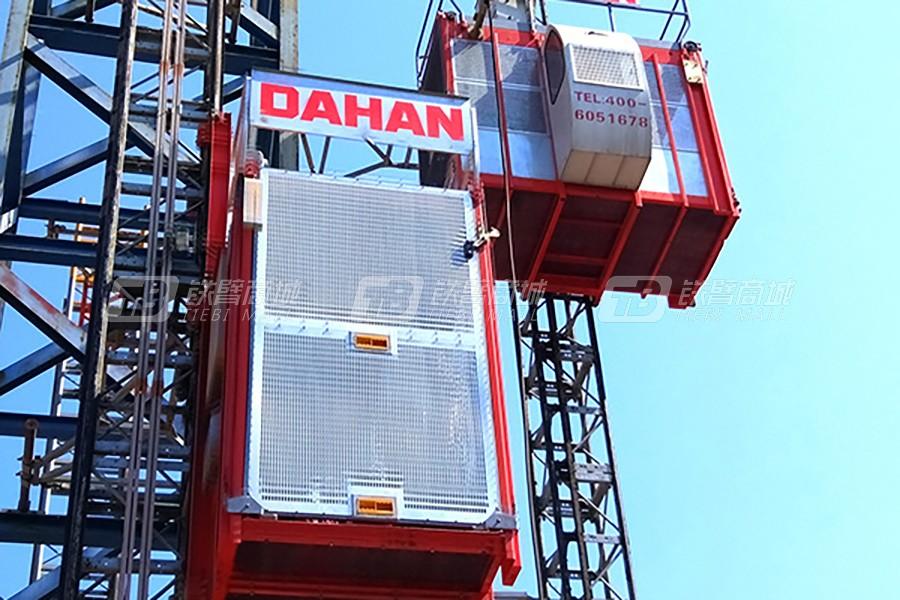 大汉建机SC200/200齿轮传动式两传动变频升降机