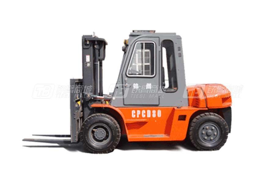 万力叉车CPCD80内燃平衡重叉车