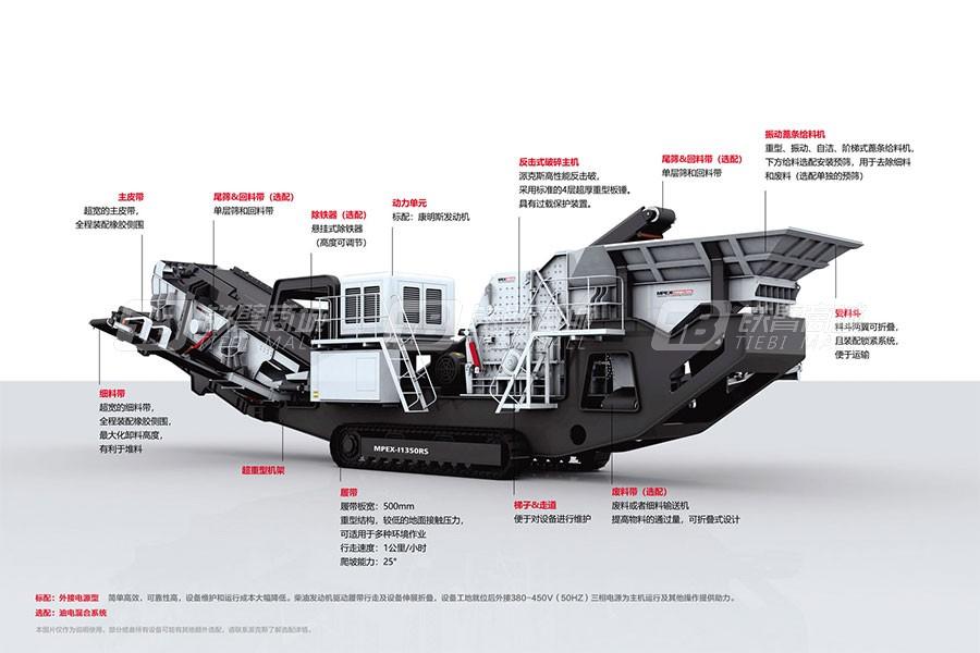 派克斯I1350RS履带移动反击式破碎机