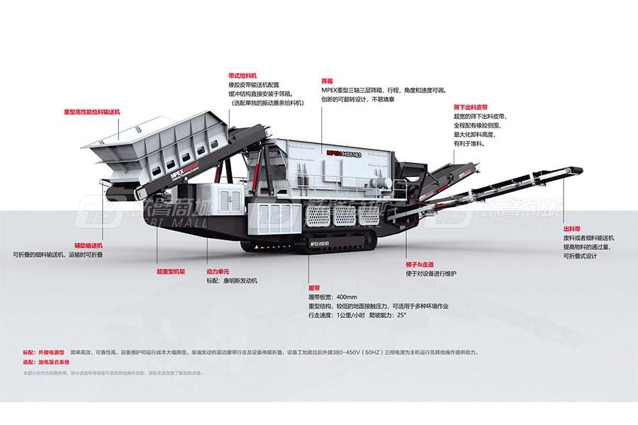 派克斯HS5163履带移动水平式筛分机
