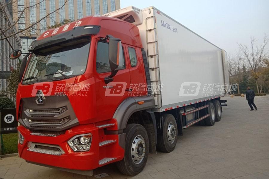 中国重汽豪瀚N7G8×4冷藏车