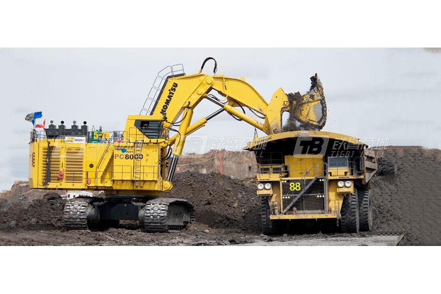 崎岖恶劣工况也阻挡不了小松PC8000-6挖掘机