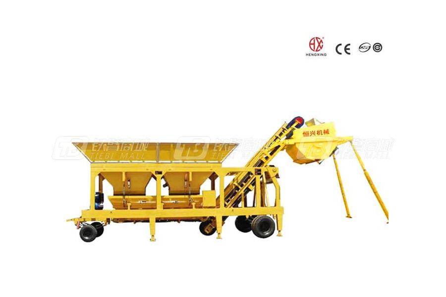 恒兴机械WBSY200移动式稳定土厂拌设备