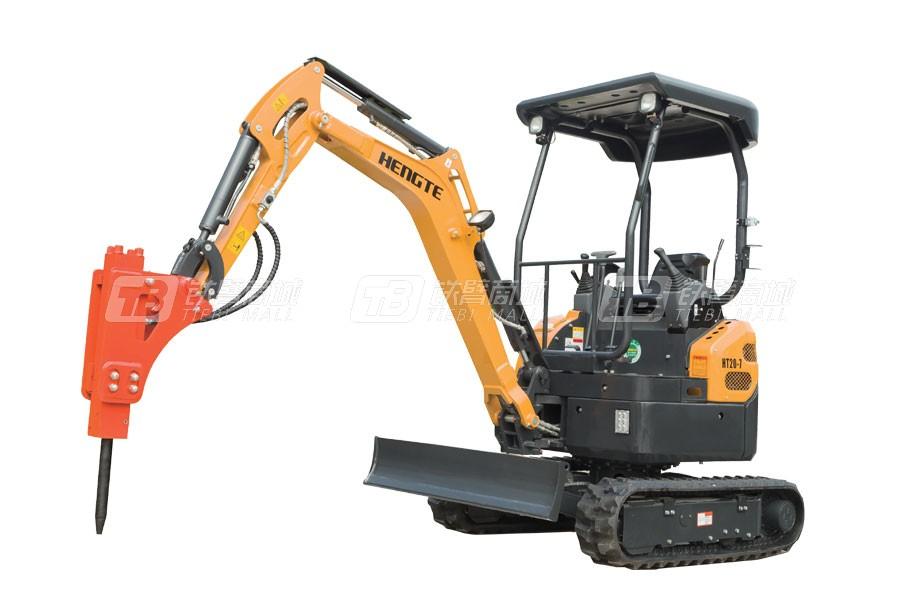 恒特重工HT20履带挖掘机(带破碎)