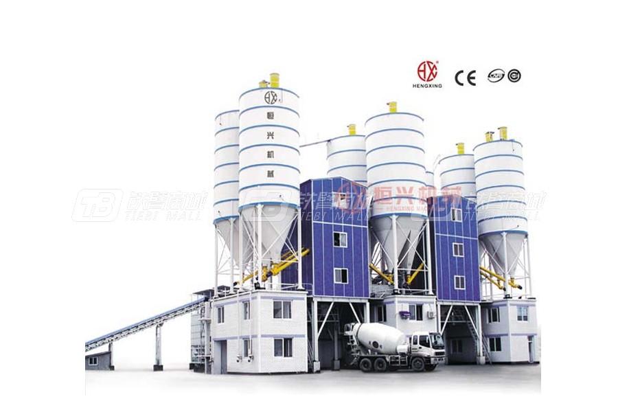 恒兴机械HZS60商品混凝土搅拌站