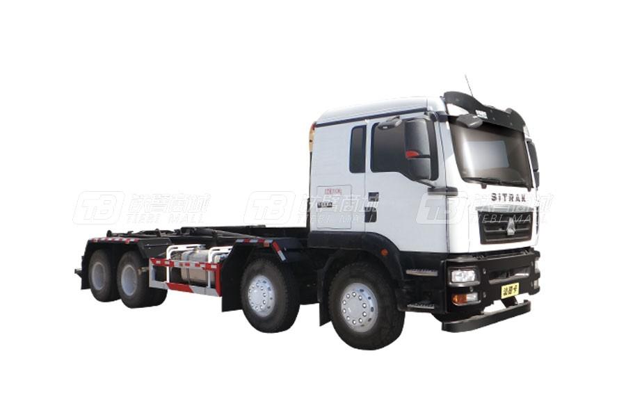 中国重汽汕德卡 G58×4 车厢可卸式垃圾车