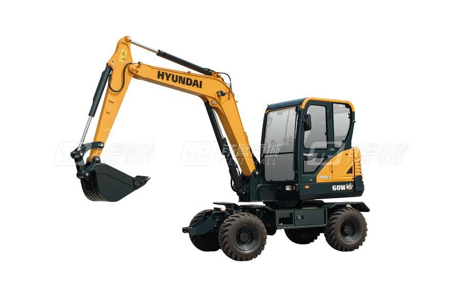 现代R60WVS轮式挖掘机