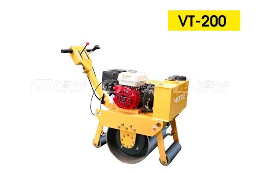 沃特VT-200手扶式单钢轮压路机