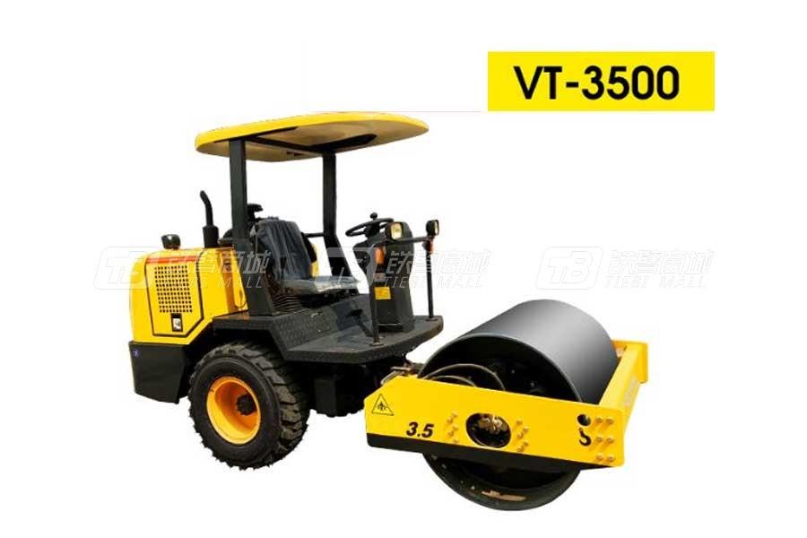 沃特VT-3500单钢轮座驾压路机