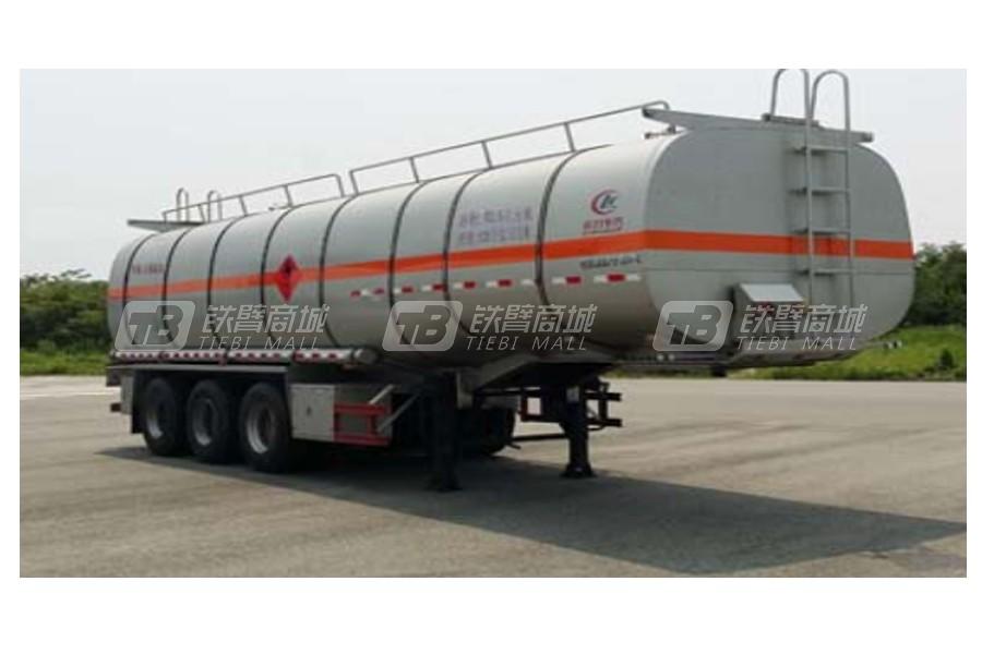 湖北合力铝合金易燃液体罐式运输半挂车油罐车