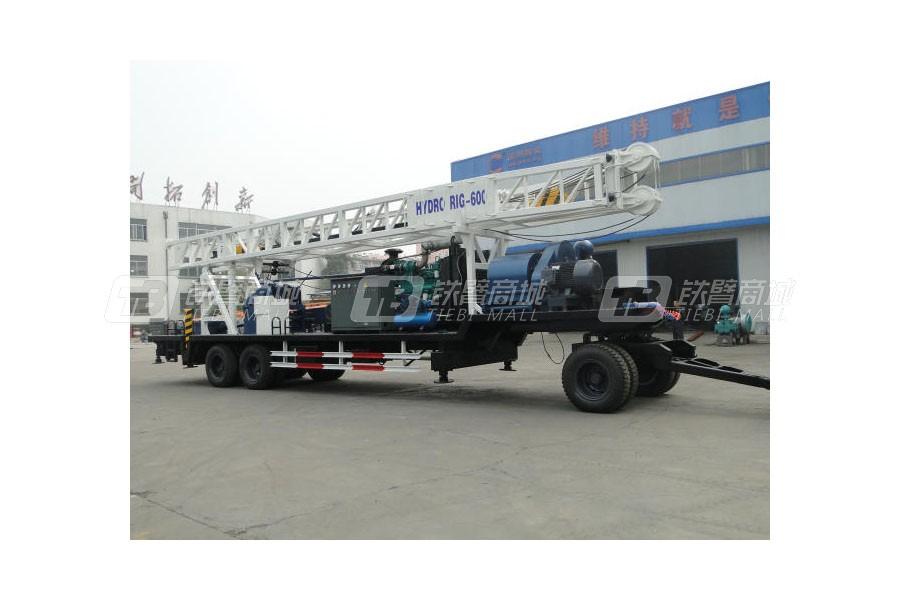 滨州钻机BZT600D拖车式钻机