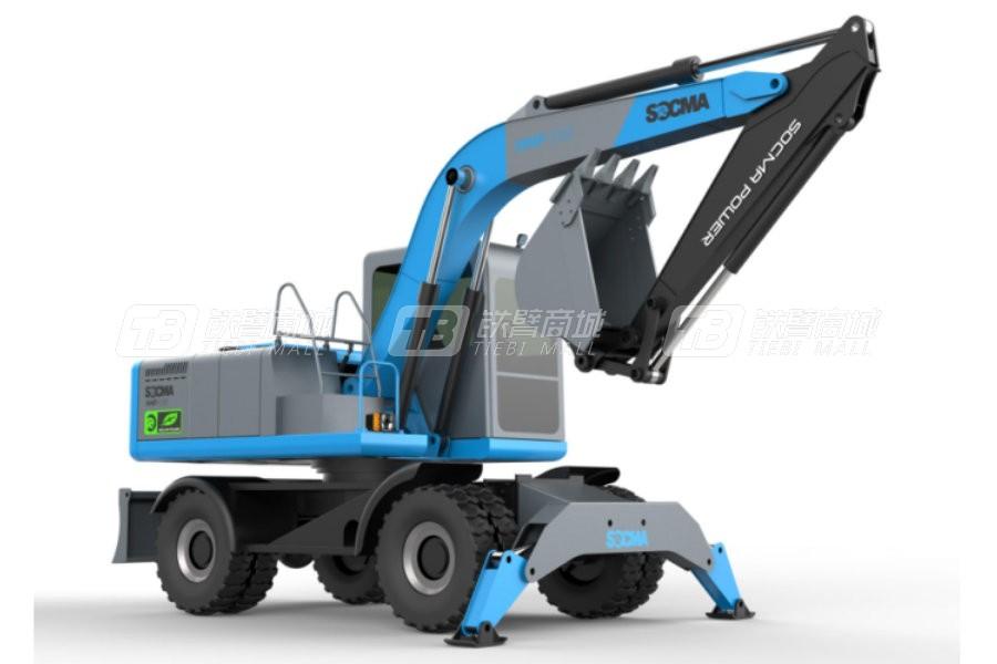 华南重工HNE80W-EL电动轮式挖掘机