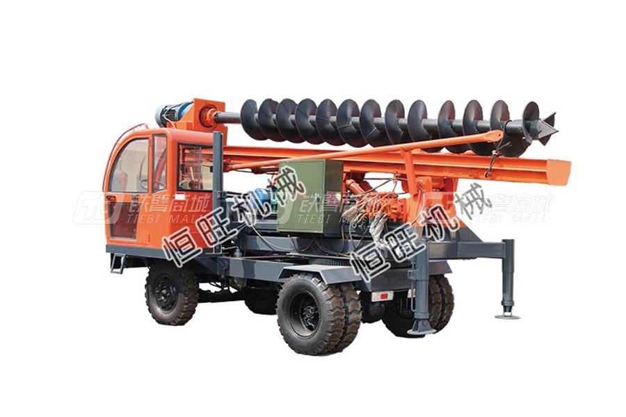 恒旺工矿轮式螺旋压桩机/打桩机