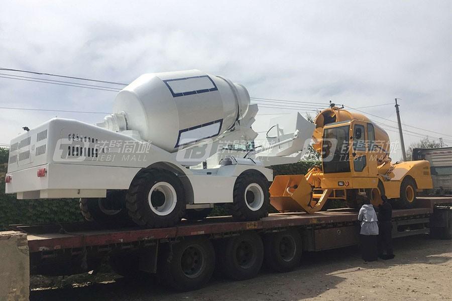 鸿源HY420自行走自装自卸混凝土罐车