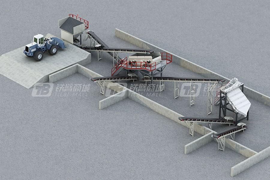 南方路机PSL120-3沥青混凝土回收料筛分设备