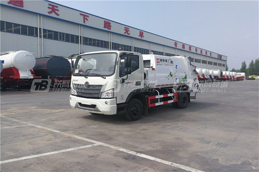 通亚汽车WTY5180ZYSE6东风天锦压缩式垃圾车