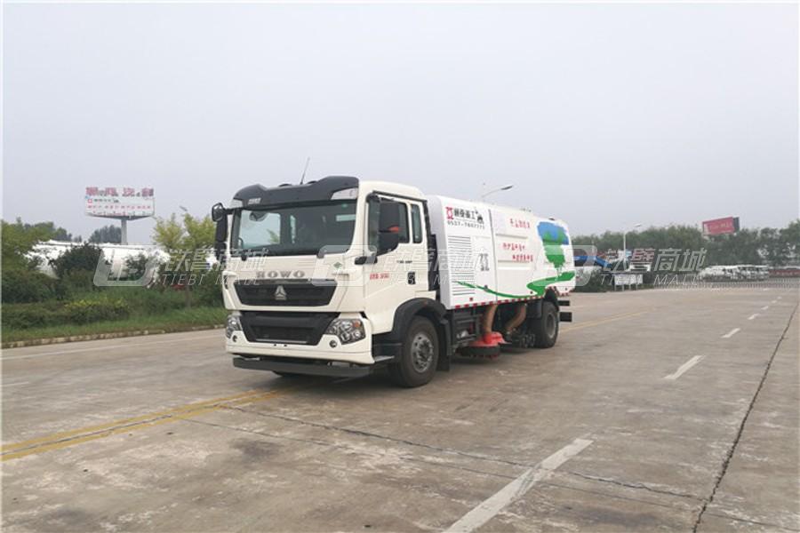 通亚汽车WTY5180TSLSNG6型重汽LNG单发无尘扫路车