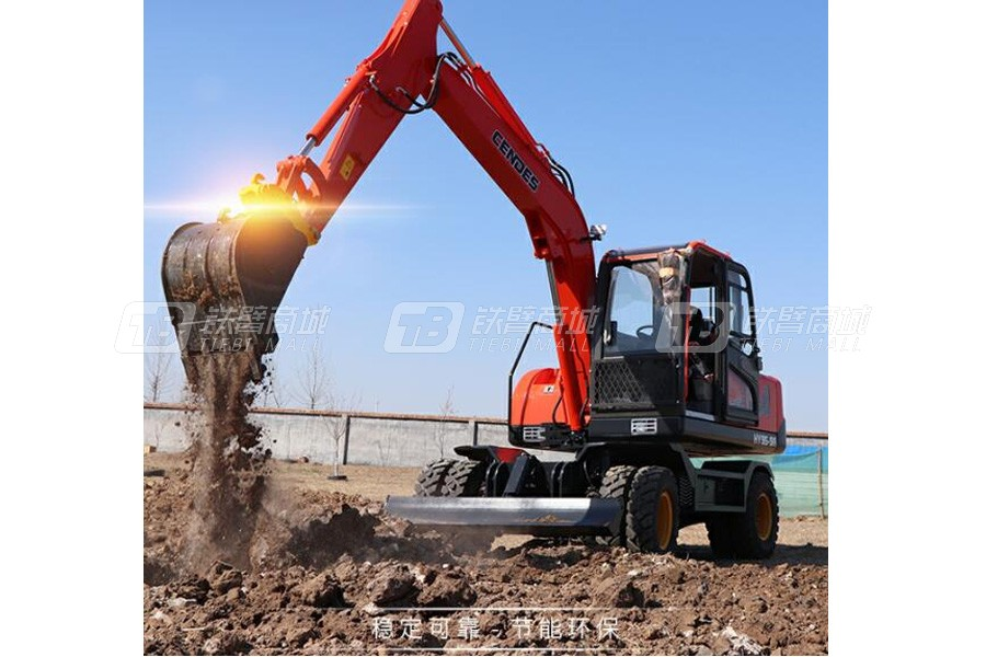 恒远HY95-9轮胎式挖掘机