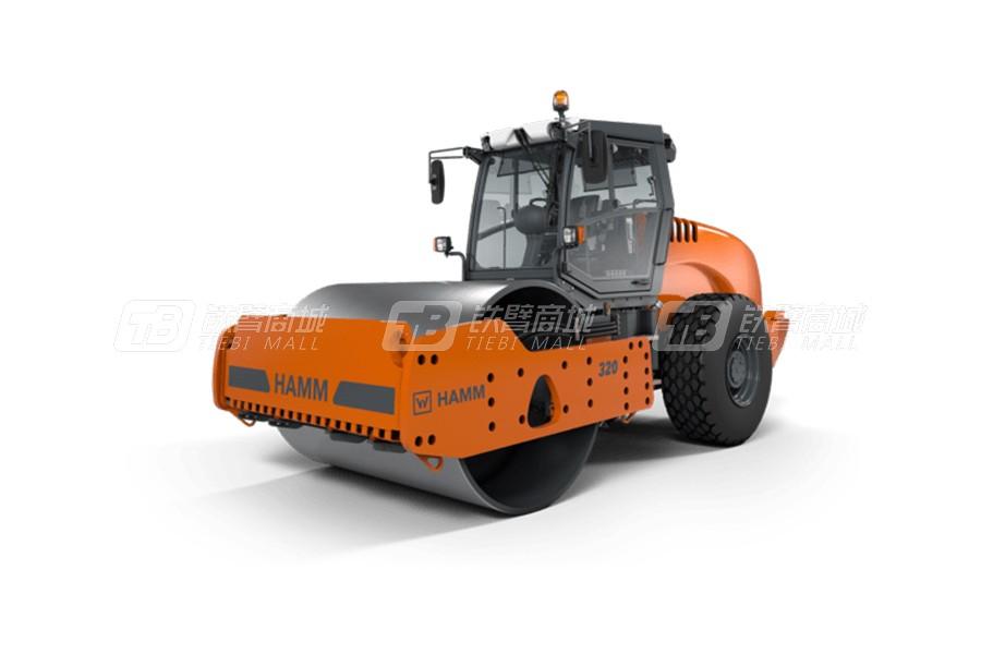 悍马320光轮式单钢轮压路机