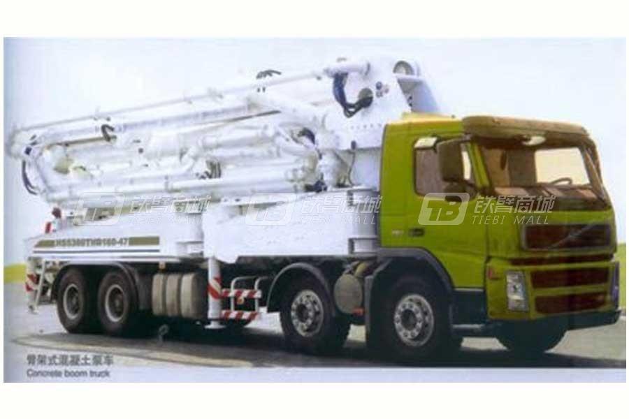 山东明龙HS5380THB160-47臂架式混凝土泵车