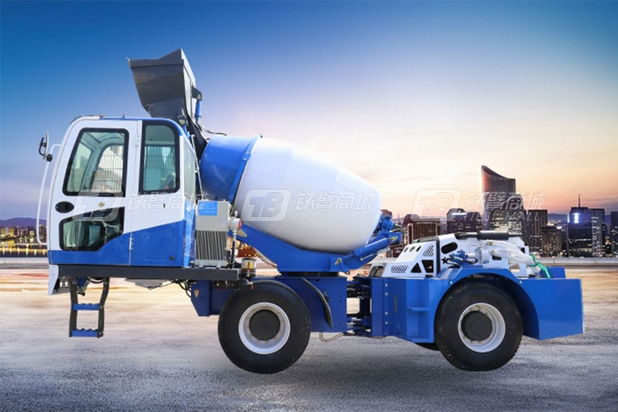 海田重工2.6立方混凝土搅拌运输车(双轮)