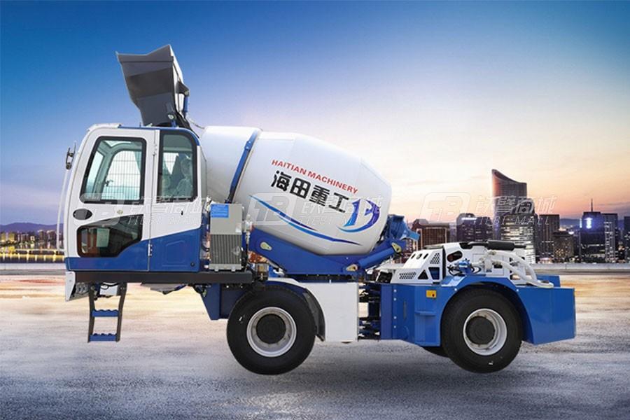 海田重工3.6立方混凝土搅拌运输车(蓝)