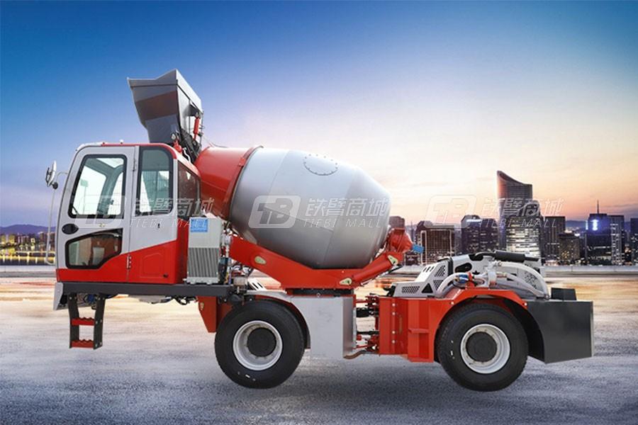 海田重工3.6立方混凝土搅拌运输车(红)