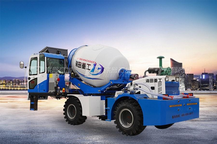 海田重工3.2立方混凝土搅拌运输车(单轮)
