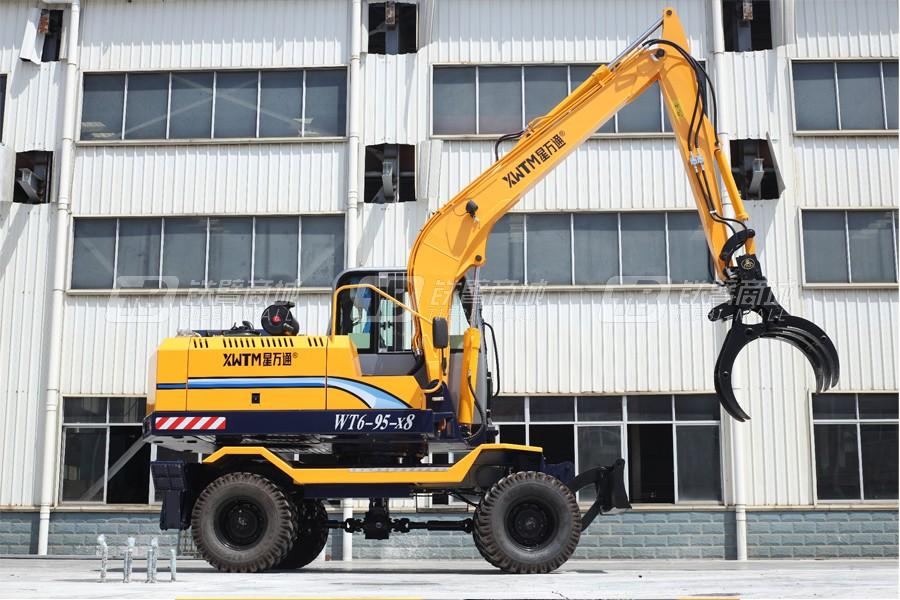 星万通WT6-95-x8轮式蔗木拾装机