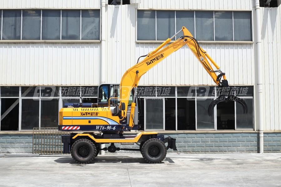 星万通WT6-90-6轮式蔗木拾装机