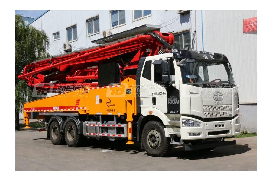 青岛科尼乐KNL5342THB50X-6RZ解放47/50米混凝土泵车