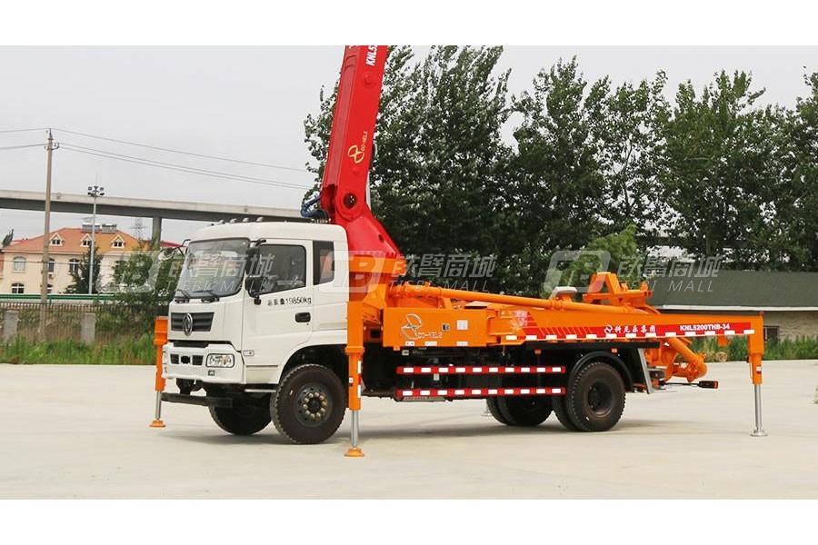 青岛科尼乐EQ5200GSZ5DJ东风随专35米混凝土泵车