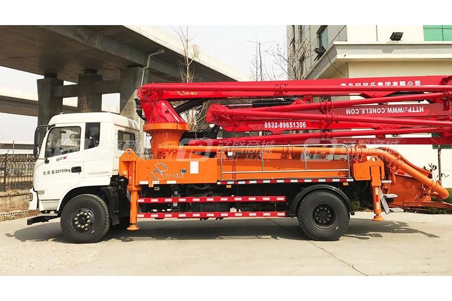 青岛科尼乐EQ5200GLVJ东风神宇30米混凝土泵车